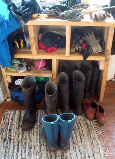 boots and gloves and hats and stuff.